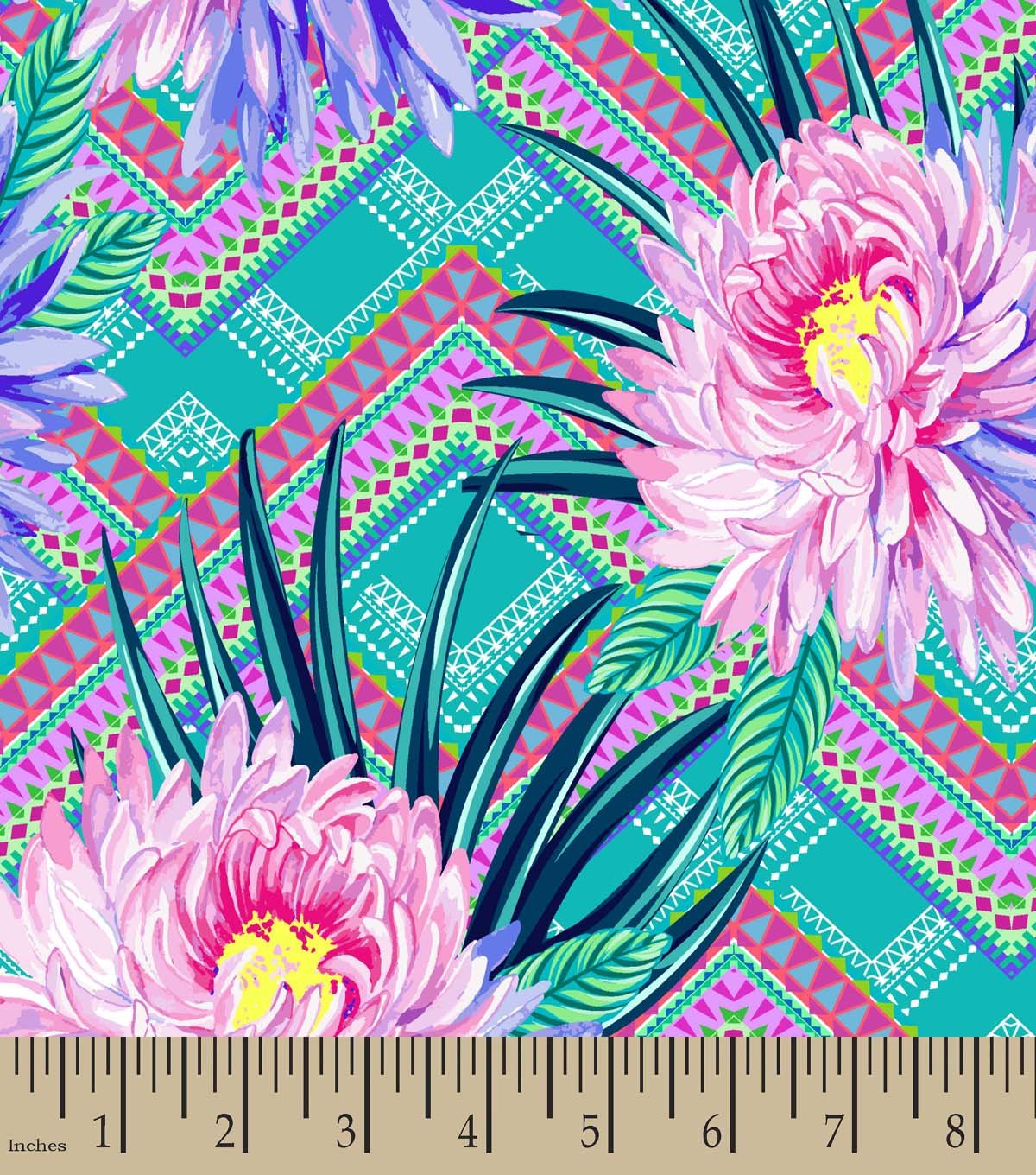 Flower Bursts Print Fabric