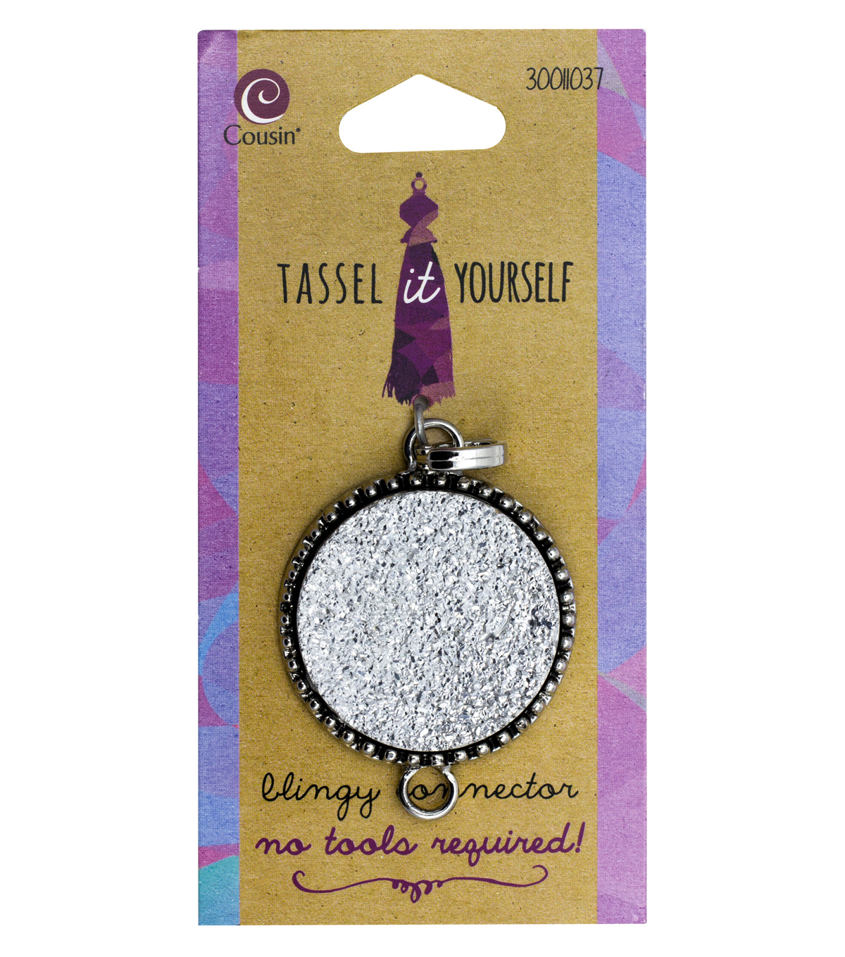 Cousin® Tassel It Yourself Circle Connector-Silver Accent