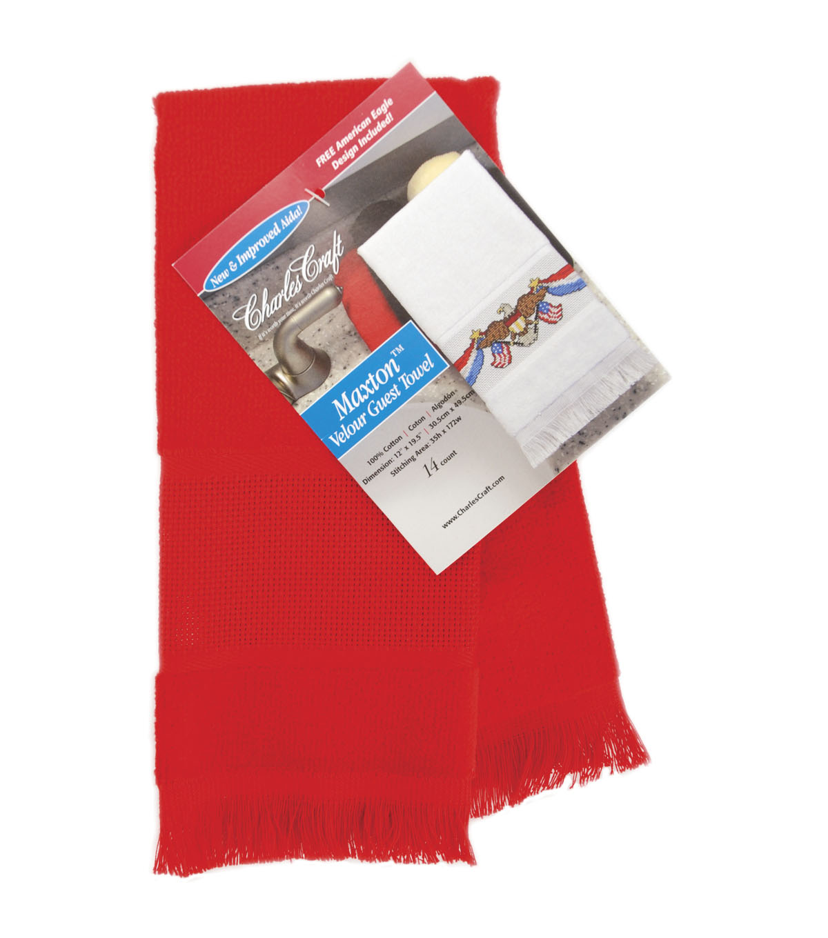 "Maxton Velour Guest Towel 12""X19-1/2"""