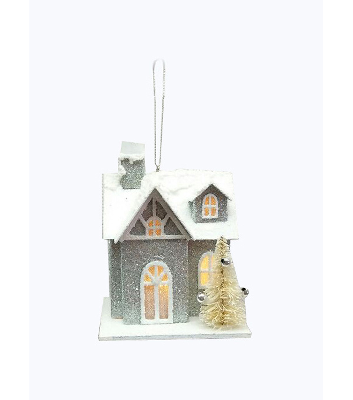 Maker\u0027s Holiday Christmas House Ornament-Silver