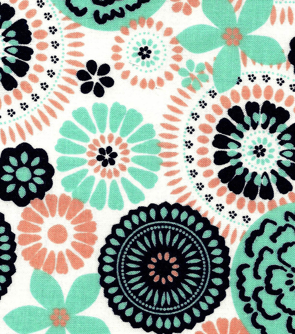 Quilter\u0027s Showcase™ Cotton Fabric 44\u0022-Peach Nectar Yucca Medallion