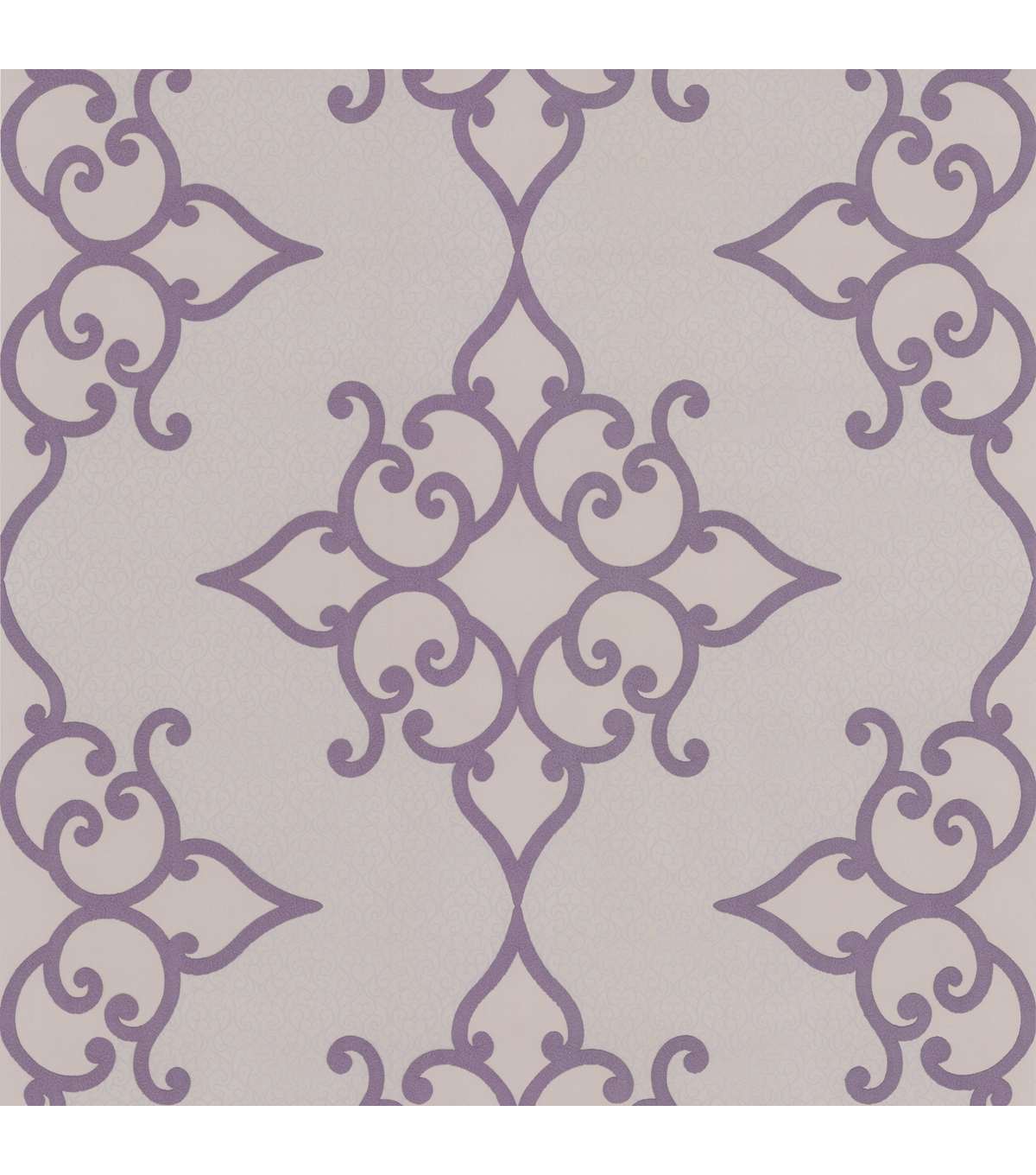 Sebastian Purple Crepe Moroccan Medallion Wallpaper Sample