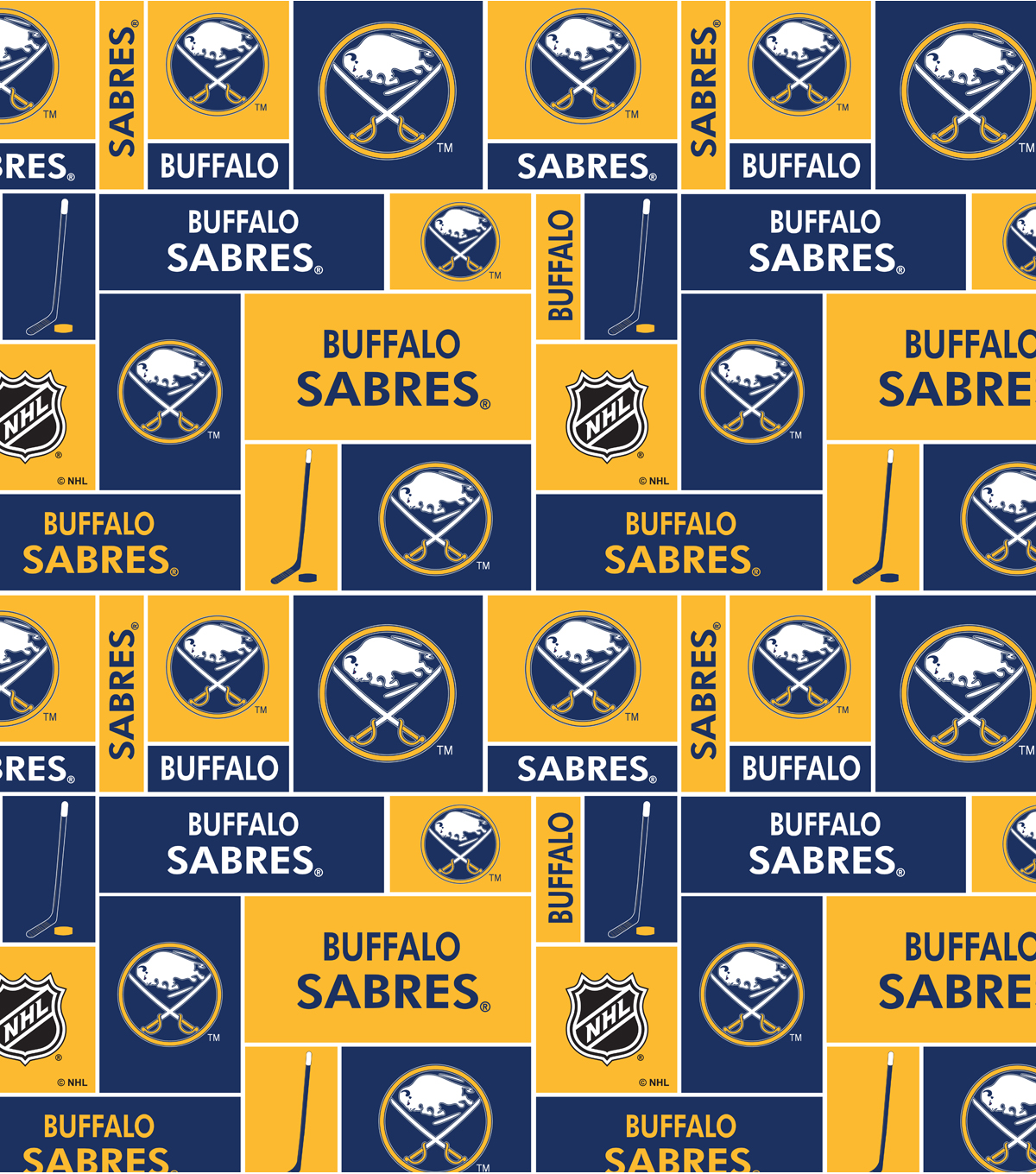 "Buffalo Sabres Cotton Fabric 43""-Block"