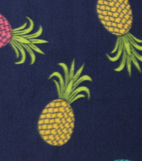 Blizzard Fleece Fabric 59\u0022-Colored Pineapples