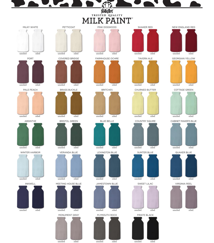Folk art color chart acrylic paint - Folkart Milk Paint 6 8 Oz