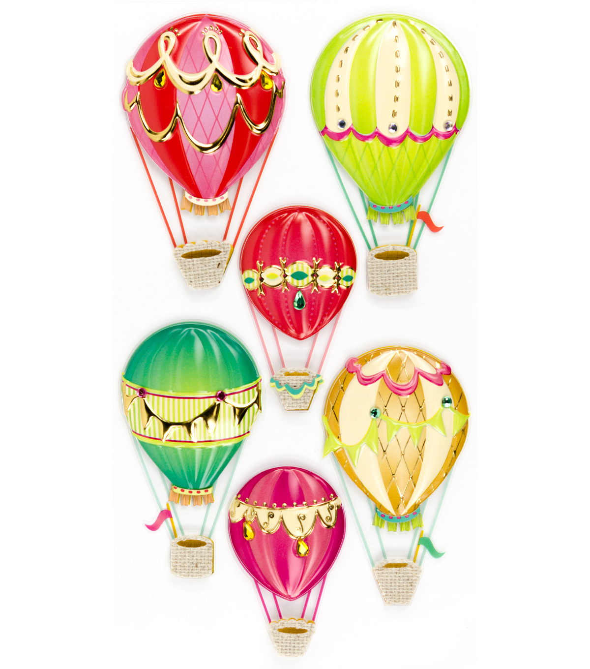 Jolee's Boutique® Stickers-Hot Air Balloons