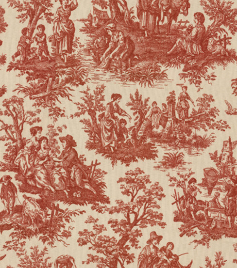 Waverly Upholstery Fabric 54\u0022-Country Life Garnet