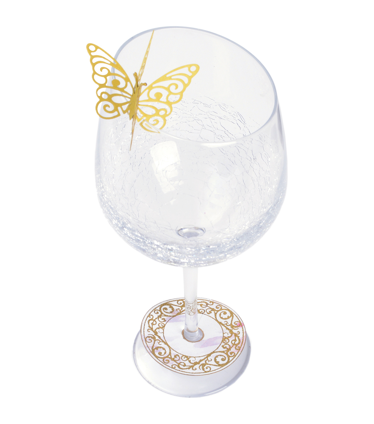 Sizzix™ Framelits™ Dies with Stamp-Wine Glass Charm/Butterfly