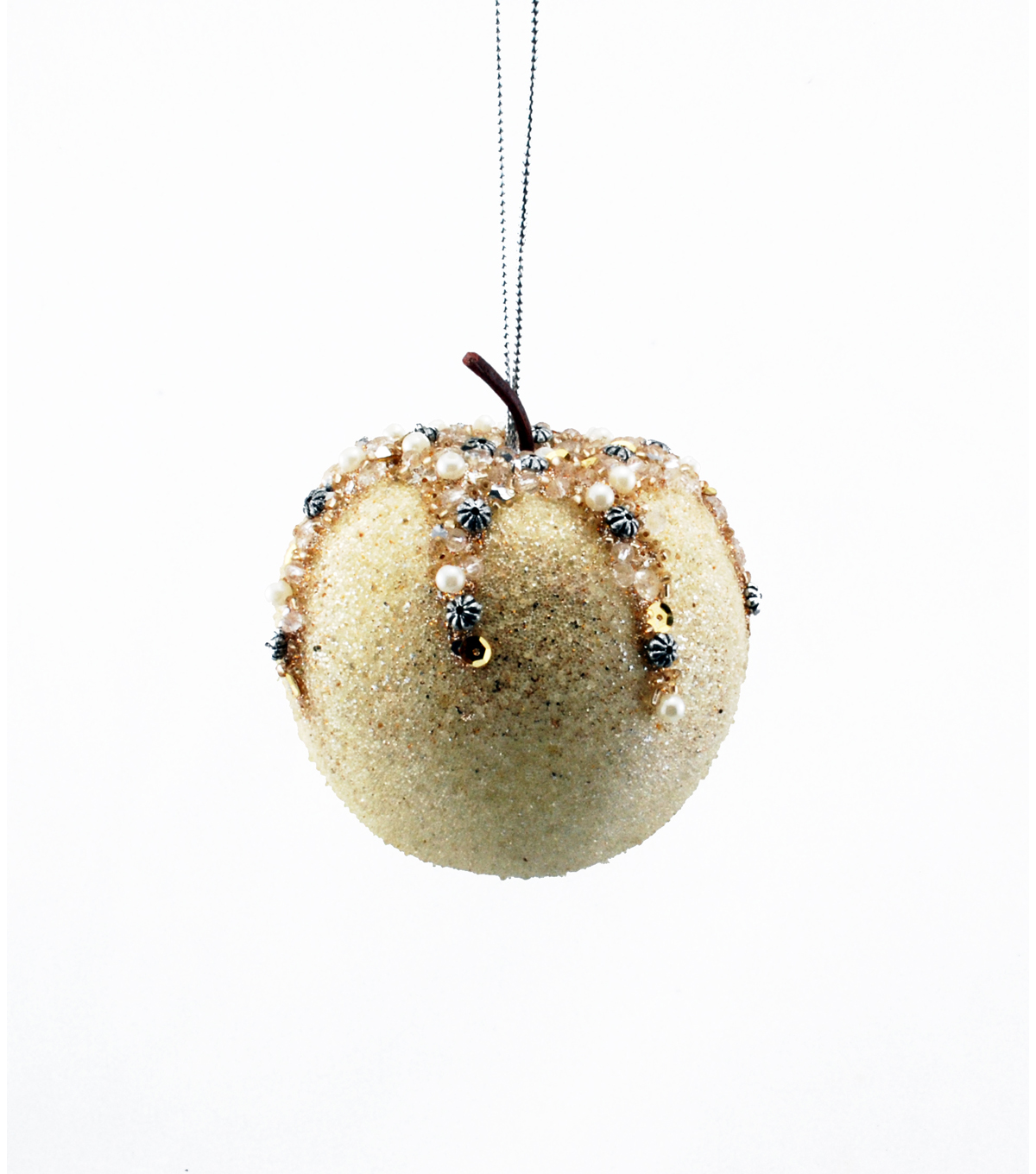 Maker's Holiday Apple Ornament-Champagne