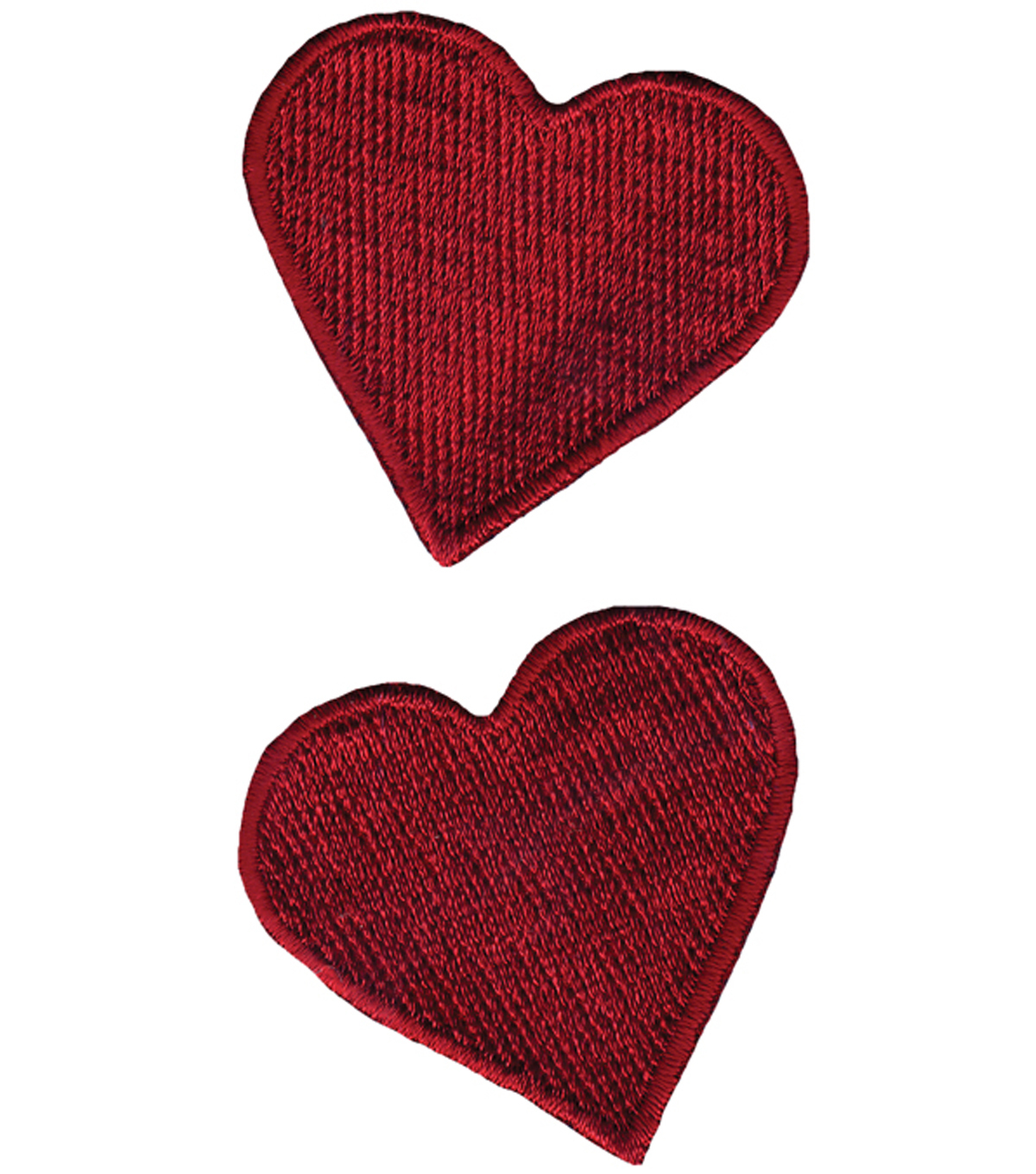 "Wrights Iron-On Appliques-Red Hearts 1-3/4""X1-3/4"" 2/Pkg"