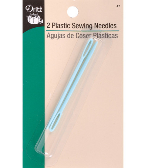 Dritz Plastic Sewing Needles 2pcs