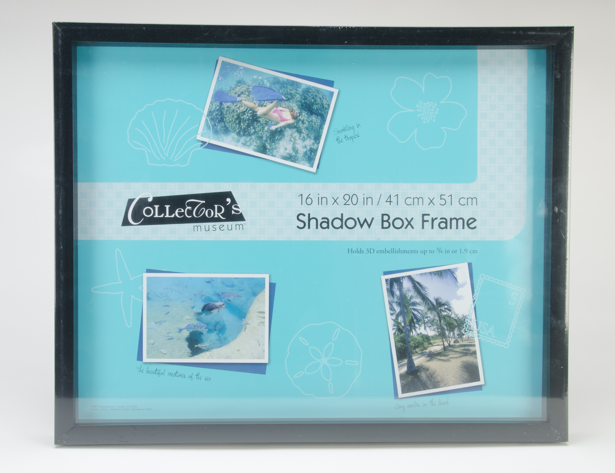 MCS Industries Collector\u0027s Museum Shadow Box Frame 16\u0027\u0027x20\u0027\u0027-Black