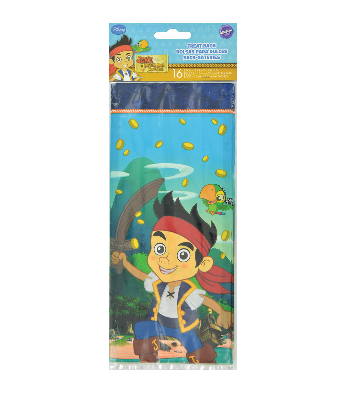 Wilton Treat Bags 16/Pkg-Jake and the Never Land Pirates