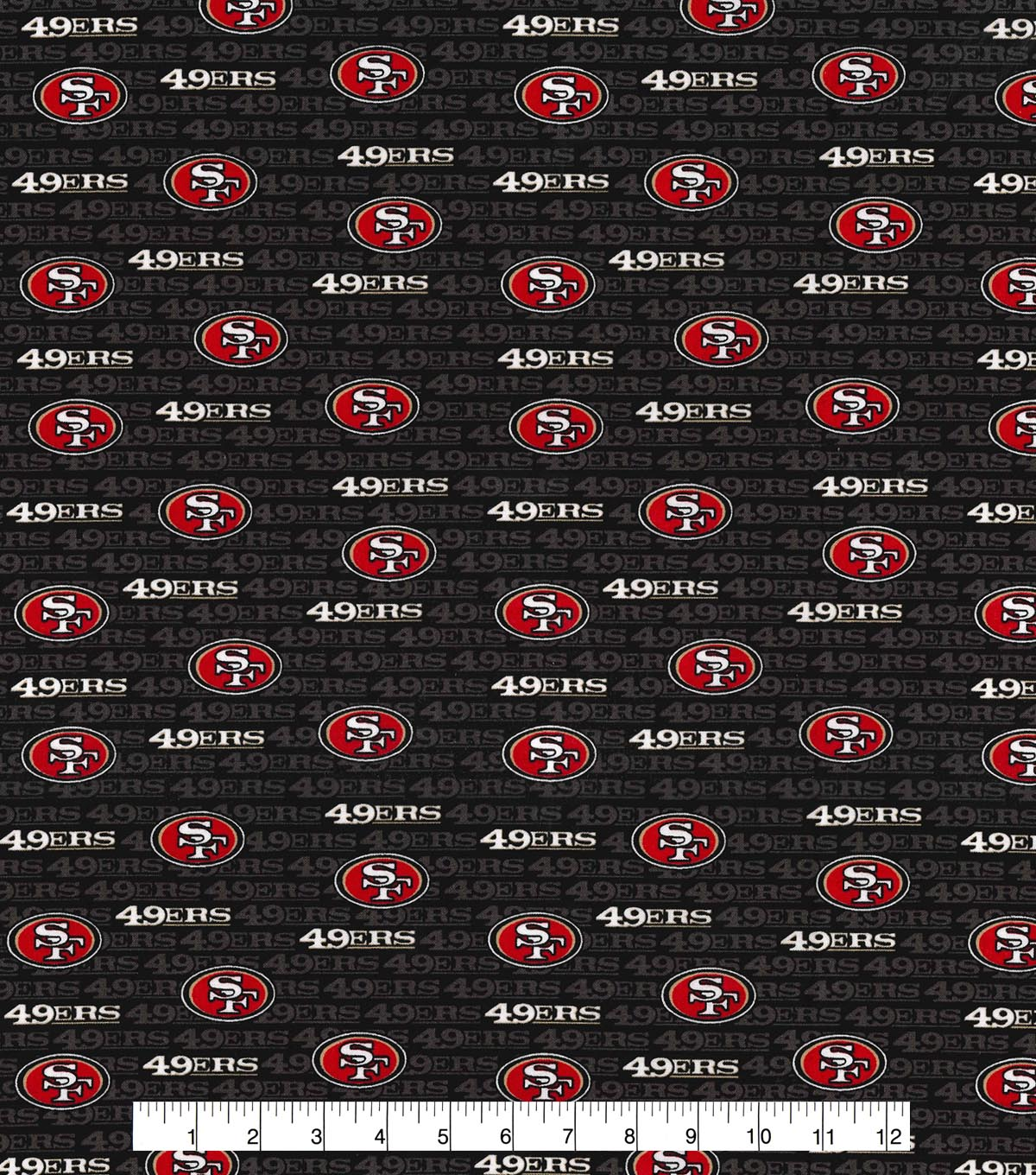 San Francisco 49ers Cotton Fabric 58\u0022-Mini Print