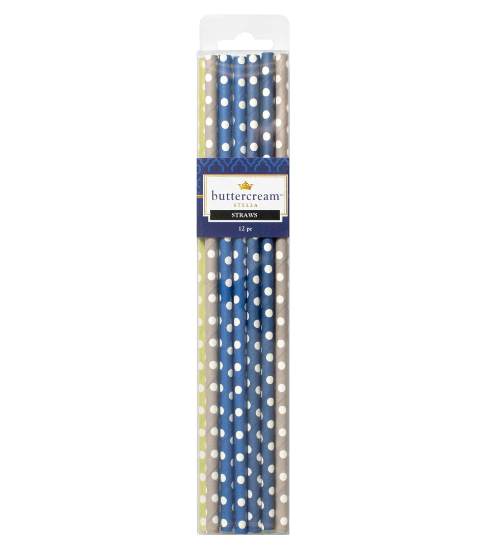 Buttercream™ Stella Collection Trendy Party Straws