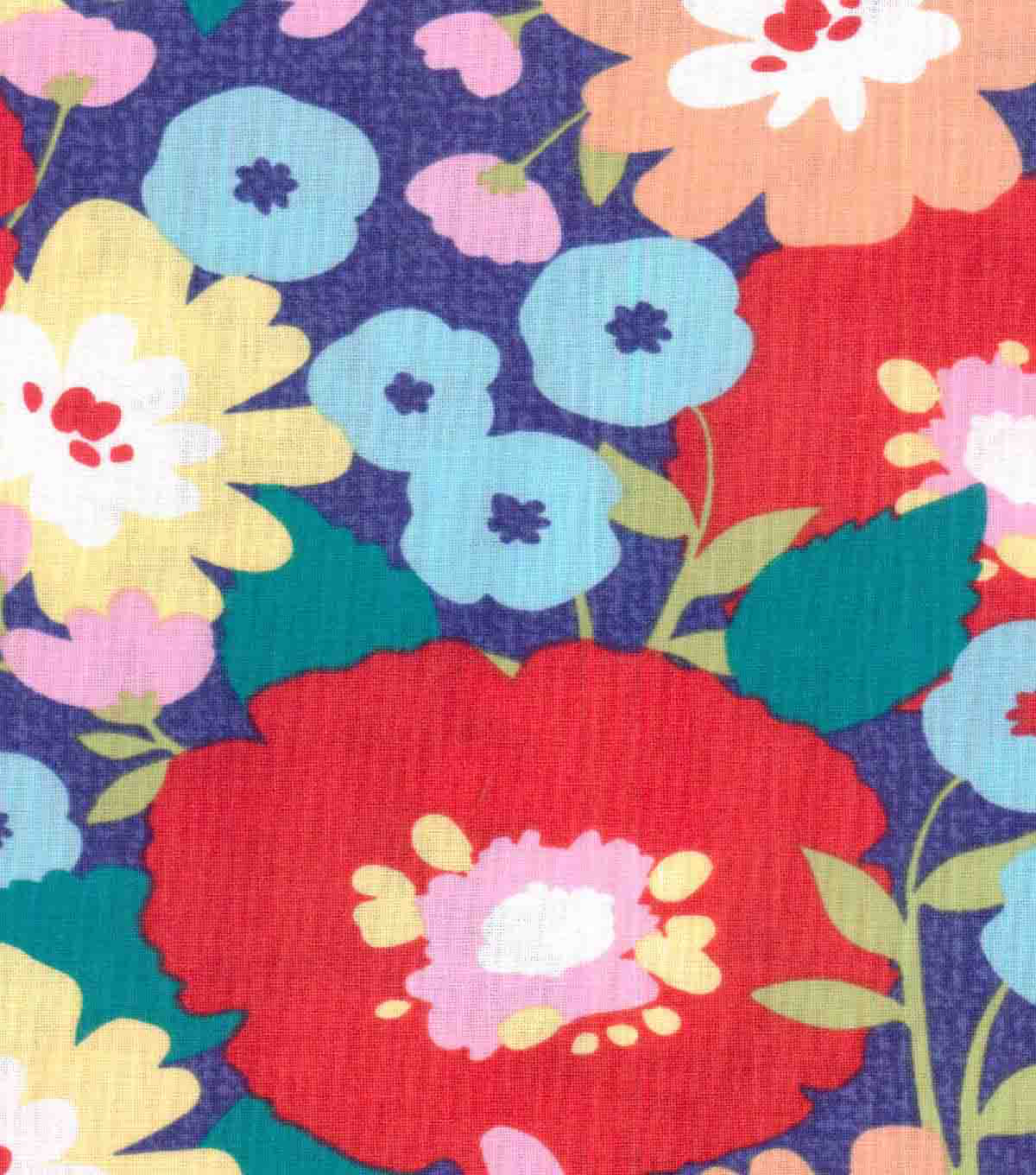 "Koko Lee™ Cotton Fabric 43""-Bold Floral Blooms"