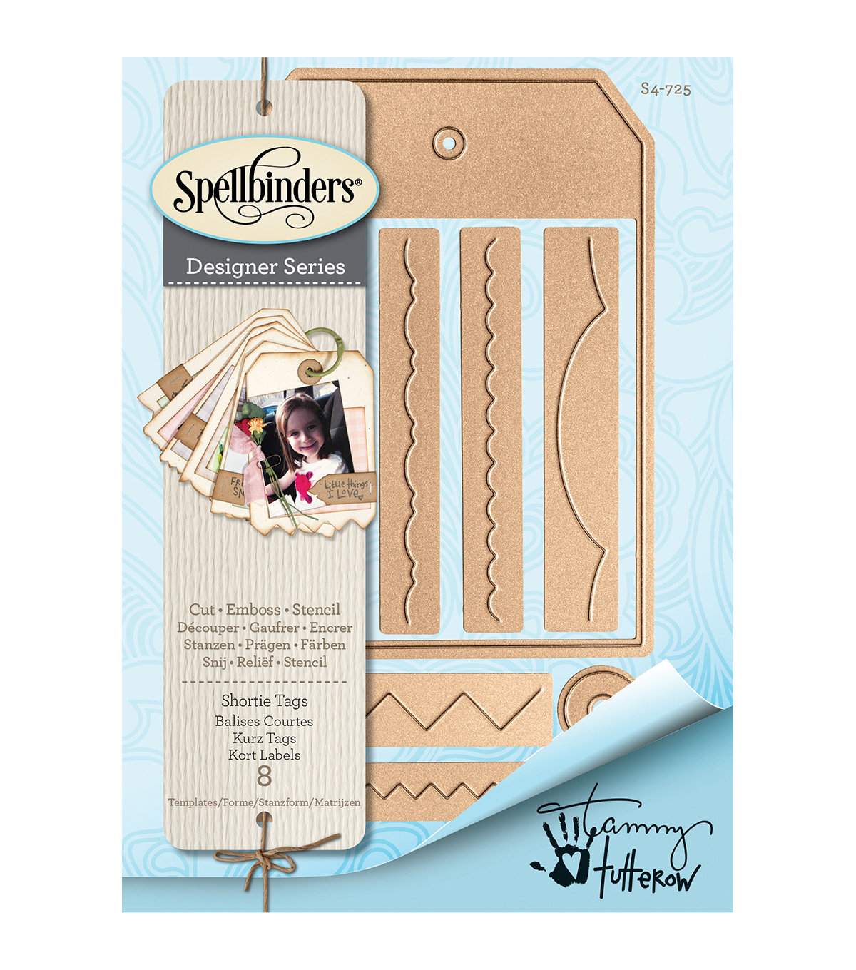 Spellbinders® Shapeabilities® 8 Pack Etched Dies-Shortie Tags