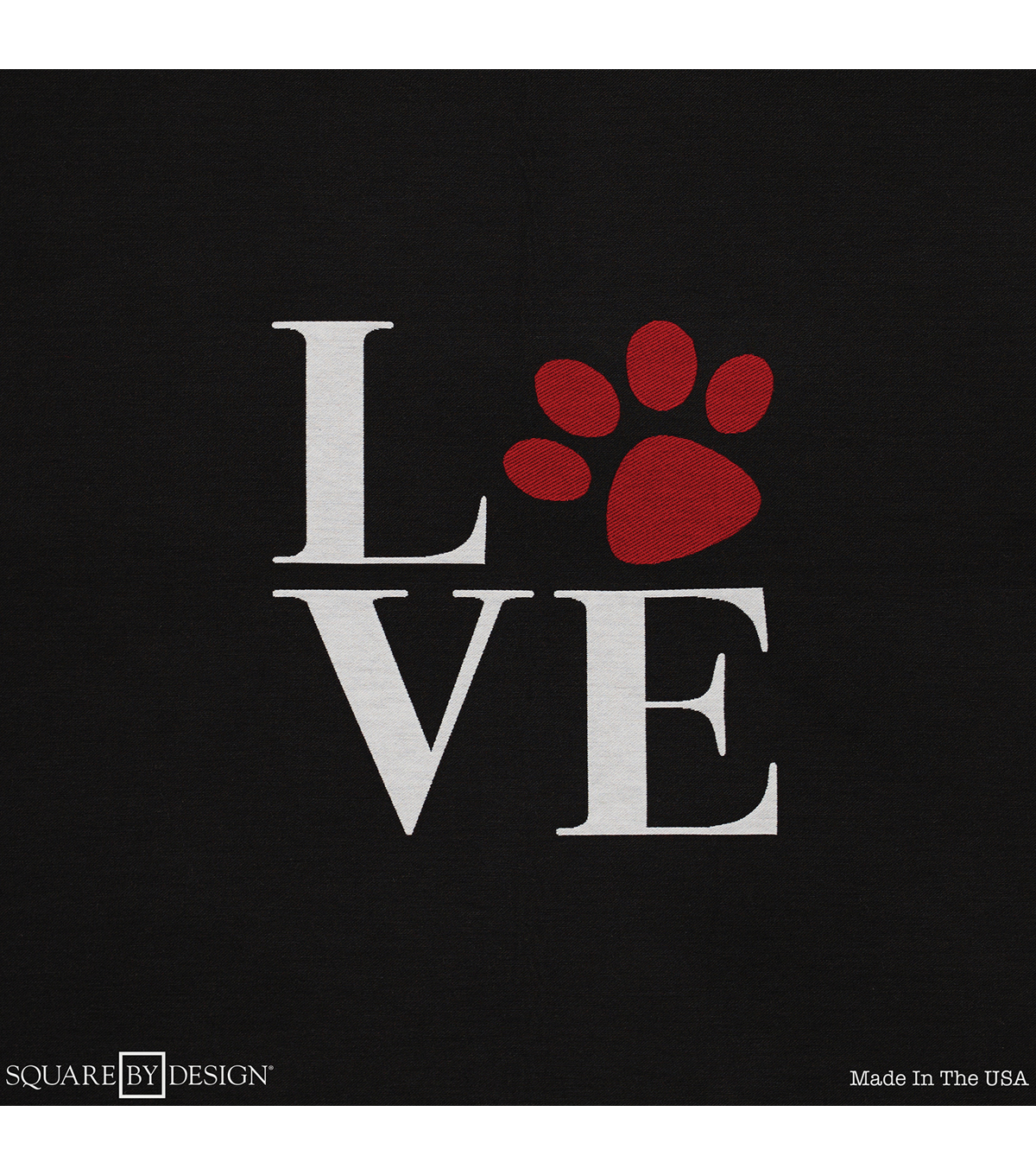 "Square By Design Woven Fabric 25""-Love Paw"