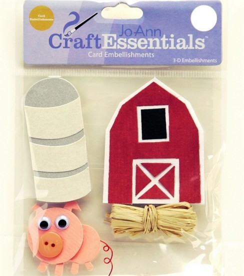 Craft Essentials Down On The Farm Embellishment