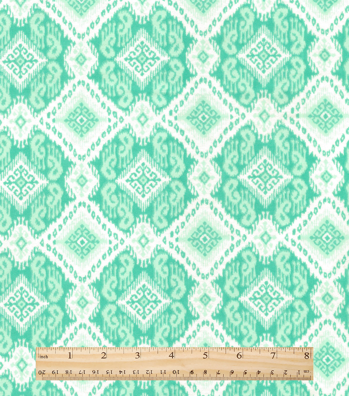 Snuggle Flannel Fabric 42\u0022-Ava Ice Green Aztec