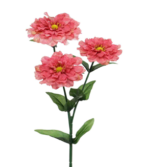 Bloom Room 31\u0022 Zinnia Spray-Salmon