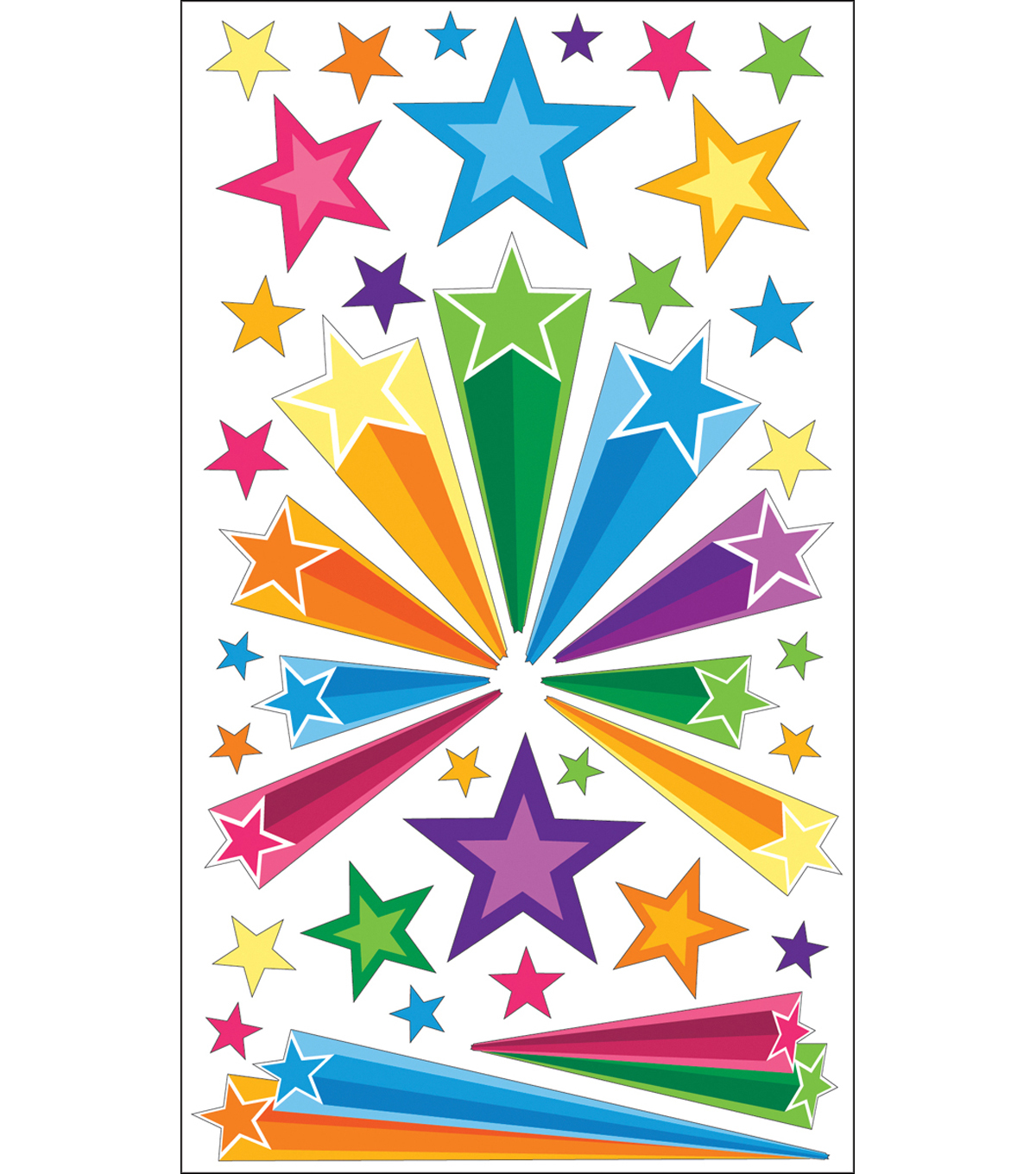 EK Success Sparkler Classic Stickers-Retro Stars