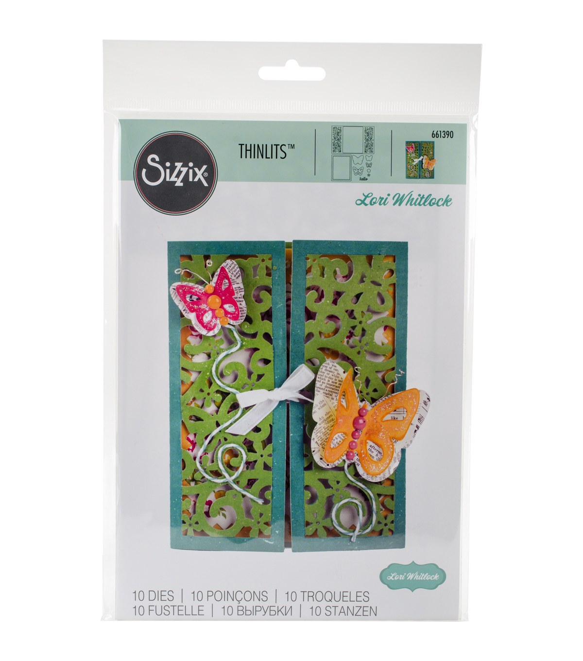 Sizzix® Thinlits™ 10 Pack Dies-Butterflies Gatefold Card