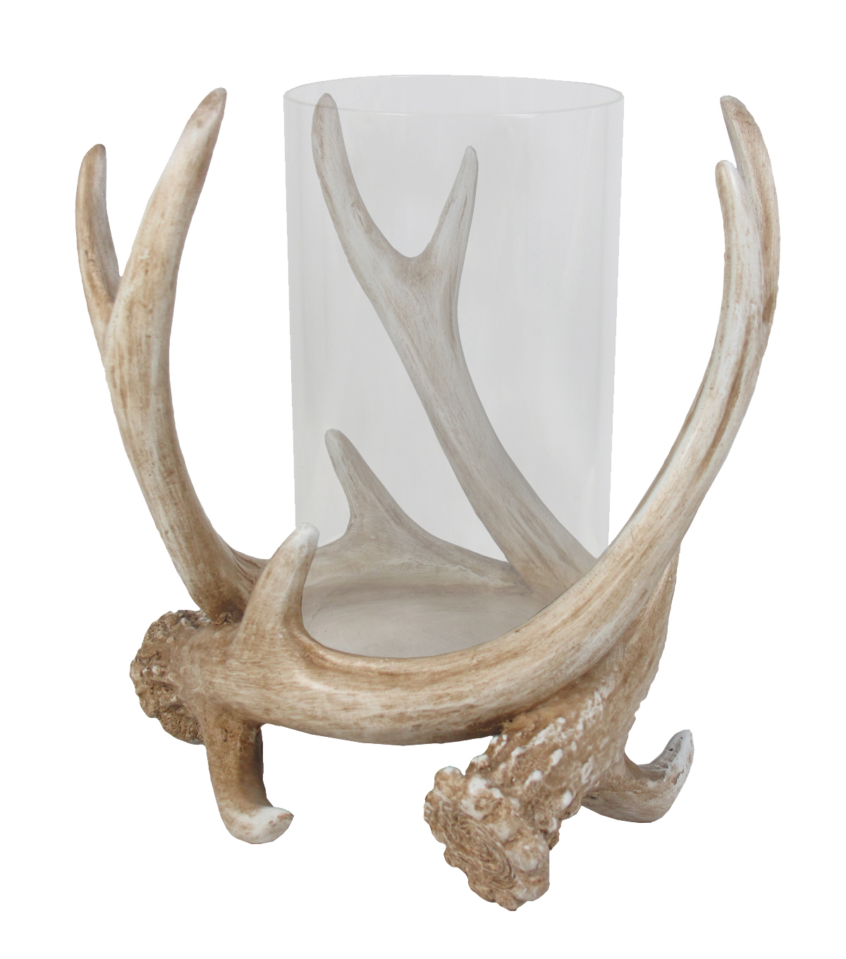 Fos Glass Antler Candle Holder