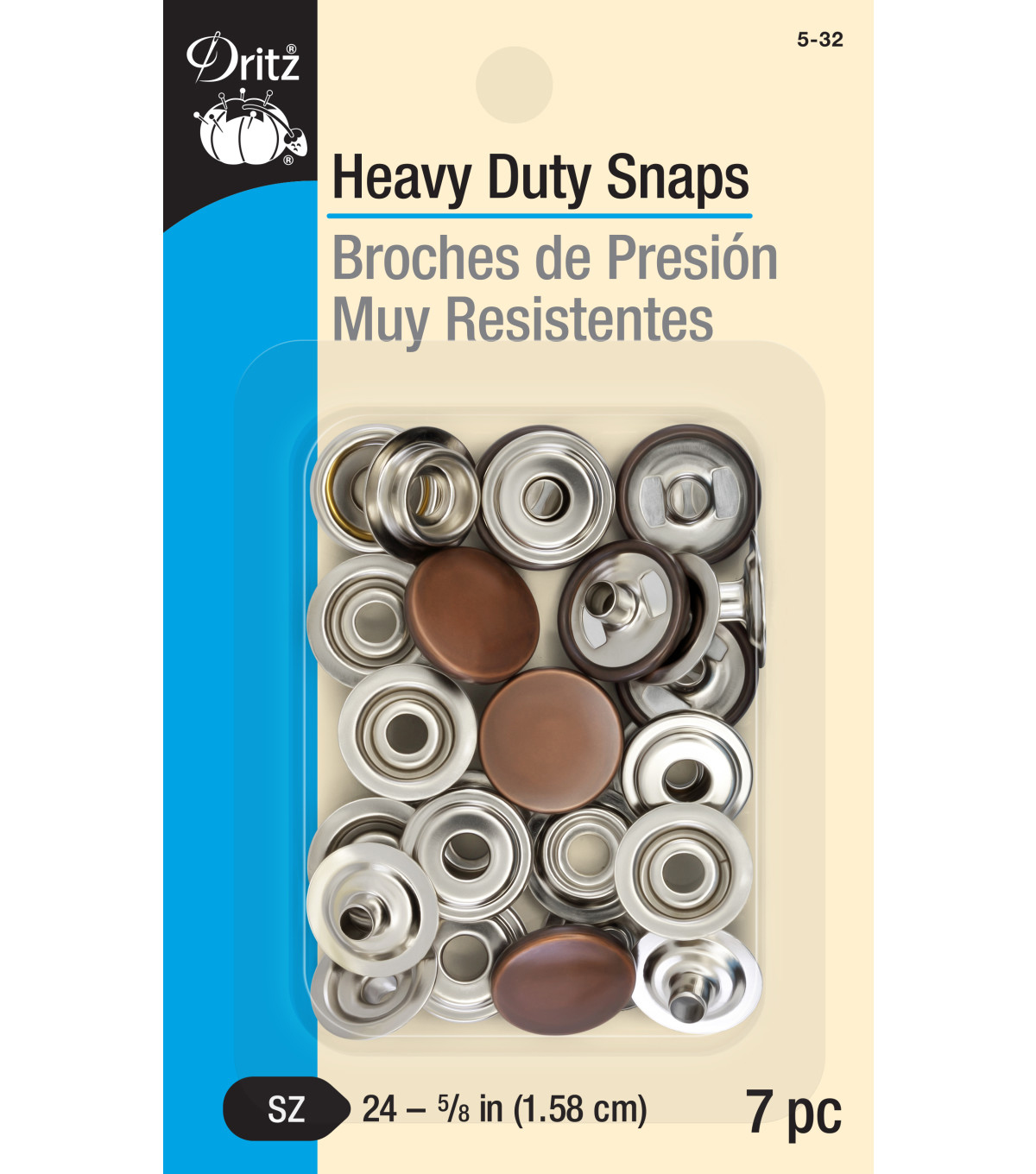 "Dritz 5/8"" Heavy Duty Snaps-Copper"