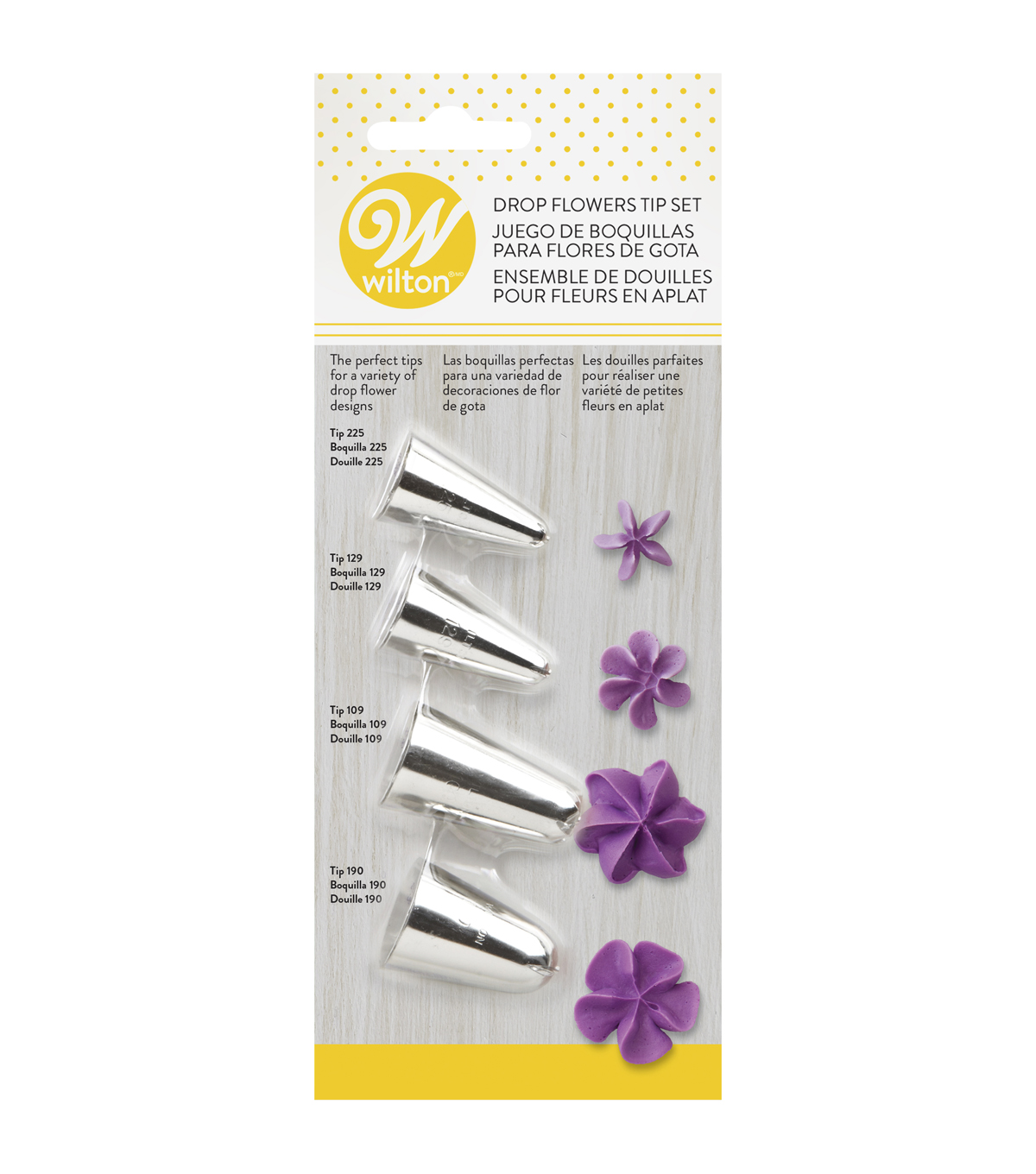 Tip Set 4pc-Drop Flowers