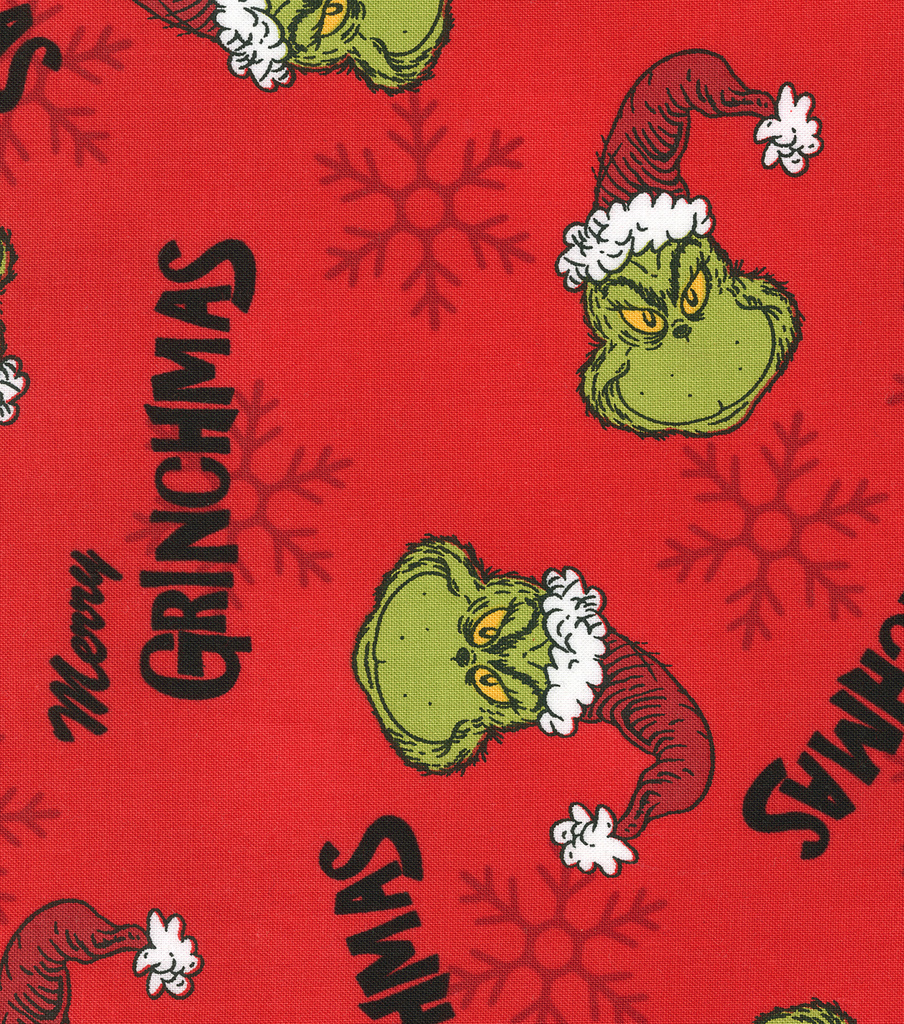 "Holiday Cotton Fabric 44""-Merry Grinchmas"