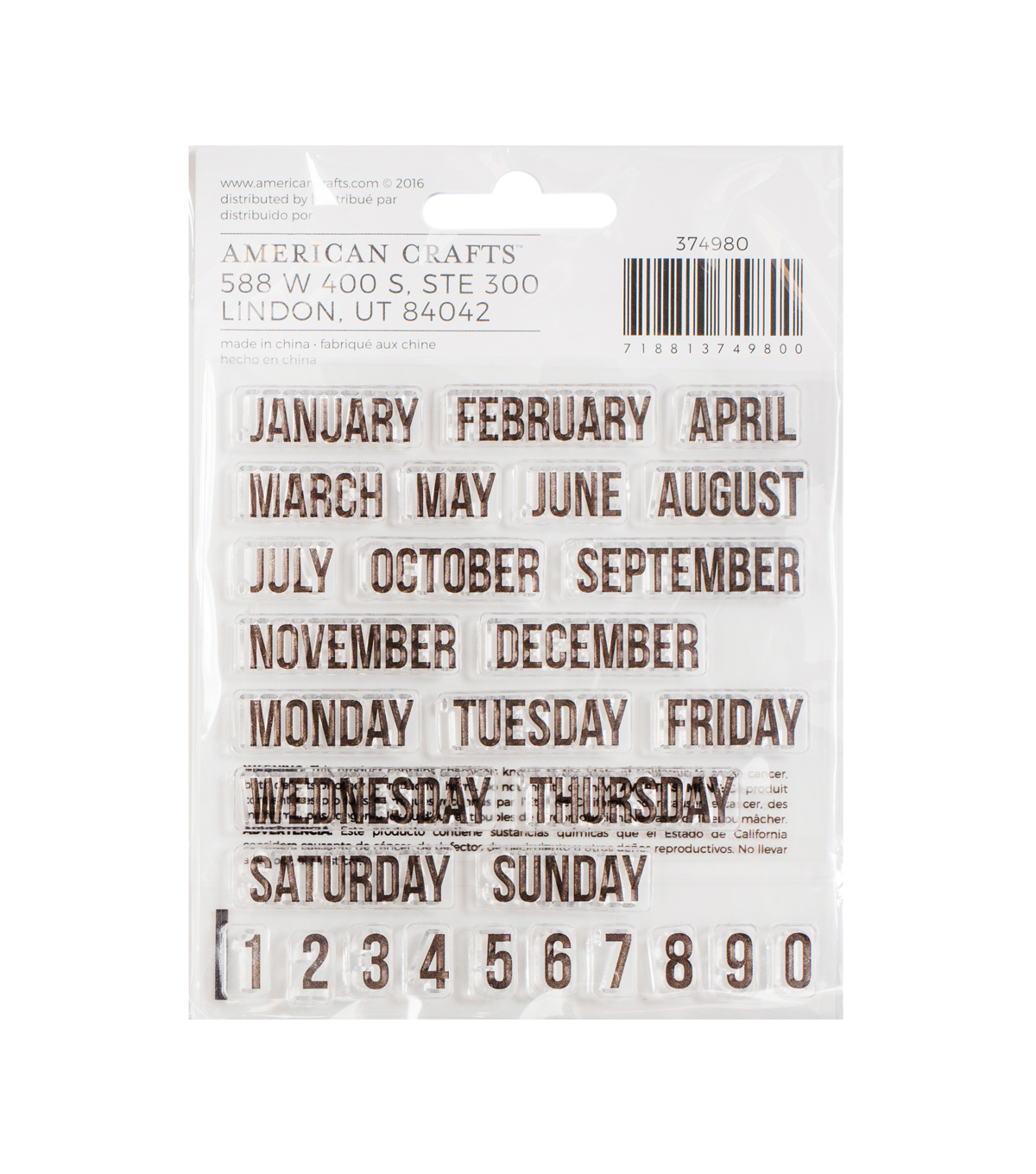 American Crafts™ 45 Pack Memory Planner Stamps