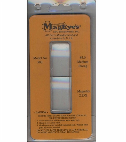 MagEyes Magnifier Supplement Lens #5.0