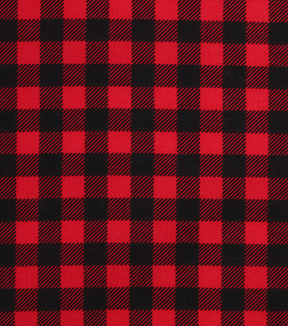 Holiday Showcase™ Christmas Cotton Fabric 43''-Black & Red Checked