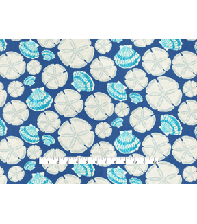 Waverly Outdoor Print Fabric 54\u0027\u0027-Indigo Sand Dollar