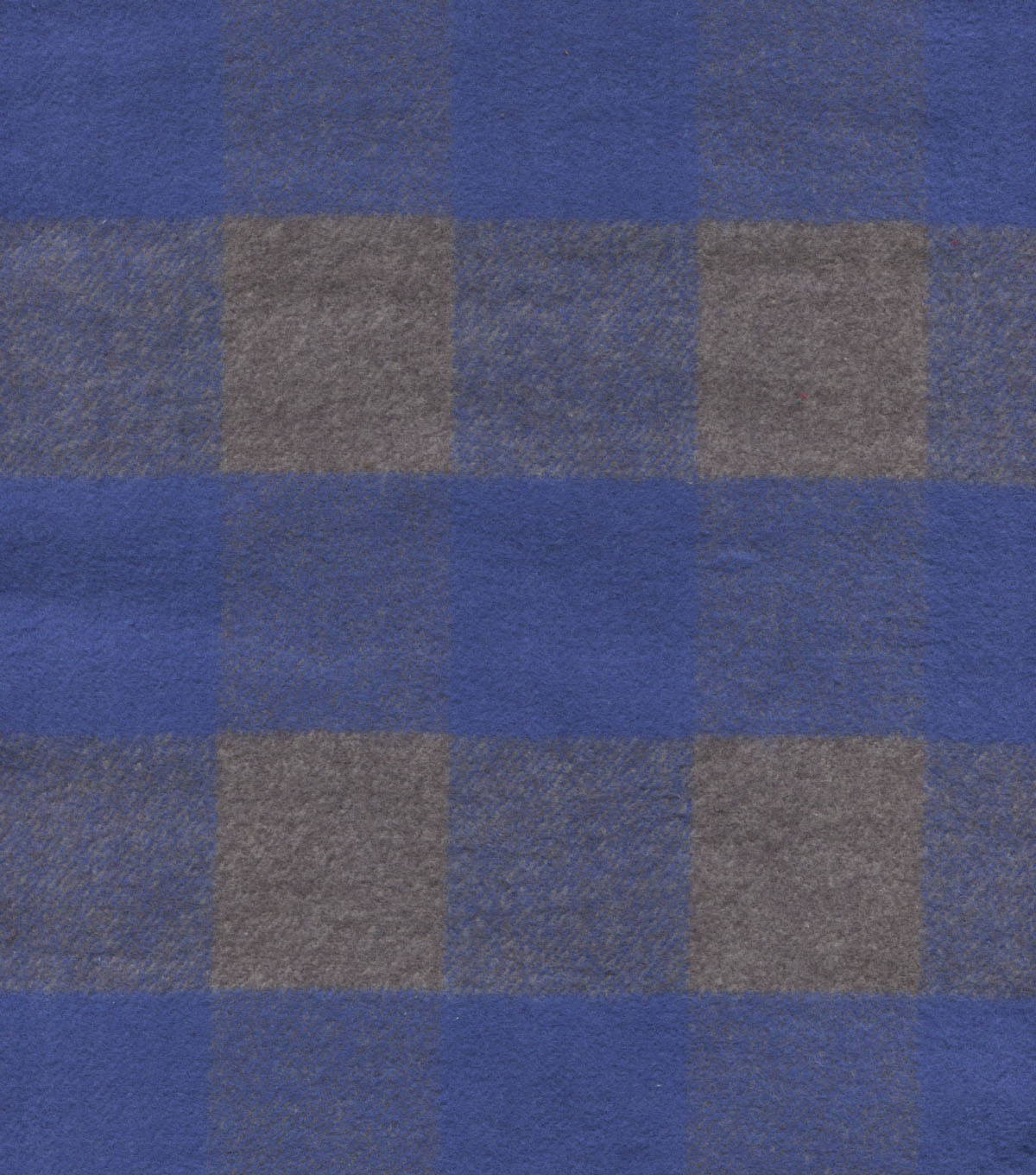 Plaid Brush Cotton Fabric 44\u0022-Navy & Gray Checks