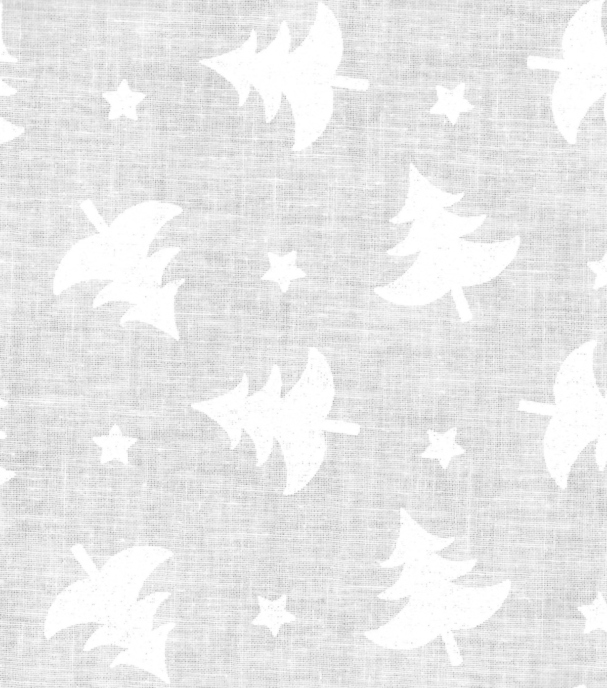 Holiday Showcase™ Christmas Cotton Fabric 43\u0027\u0027-Christmas Trees & Stars on Gray