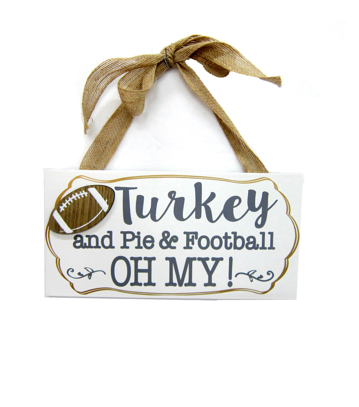 Fall Into Color Door Hanger-Turkey and Pie & Football Oh My!