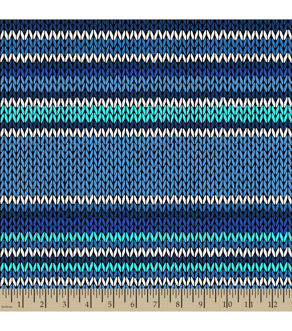 "Anti-Pill Fleece Fabric 59""-Knit Stripe Blue"