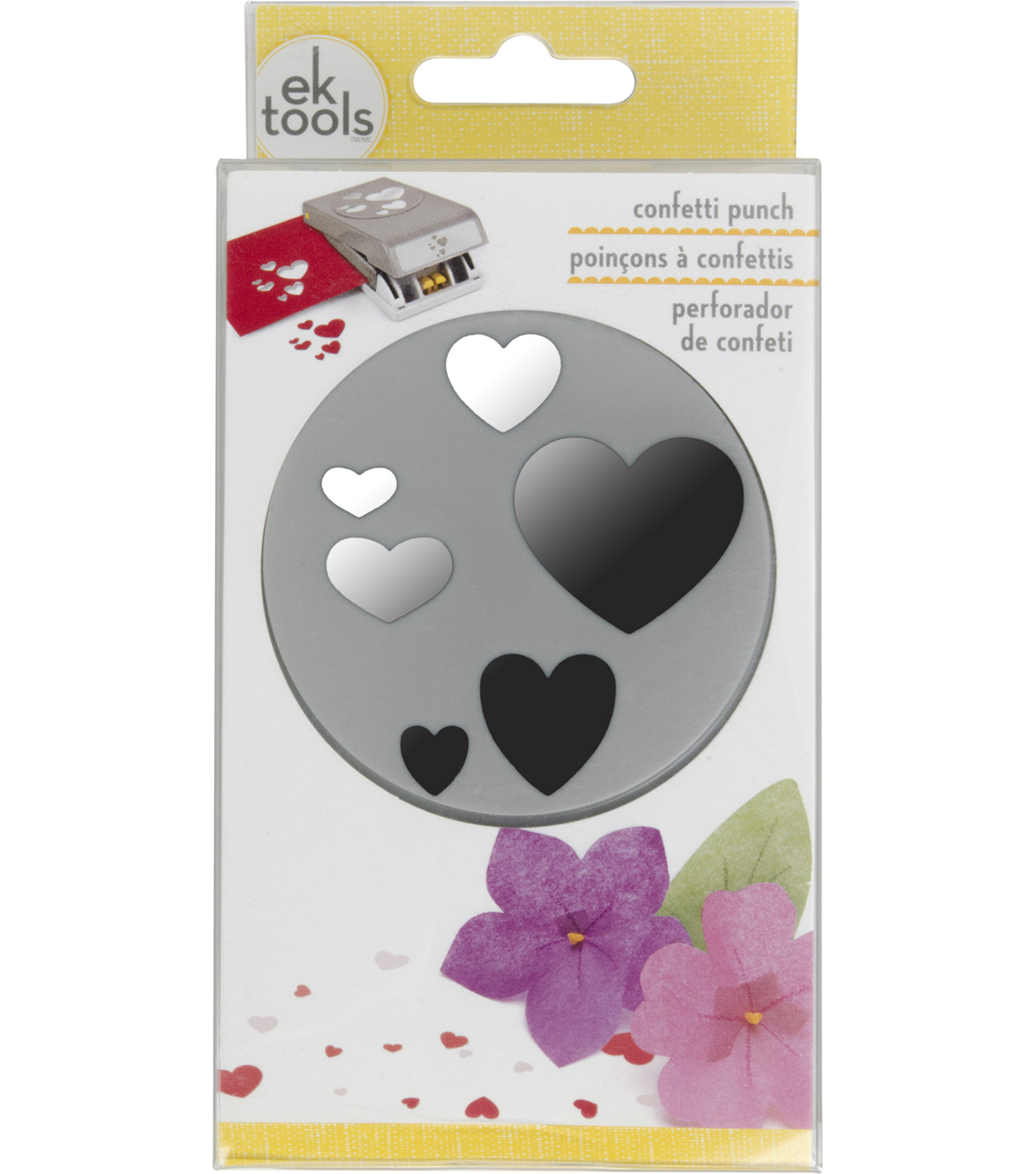 EK Tools Large Punch-Confetti Hearts