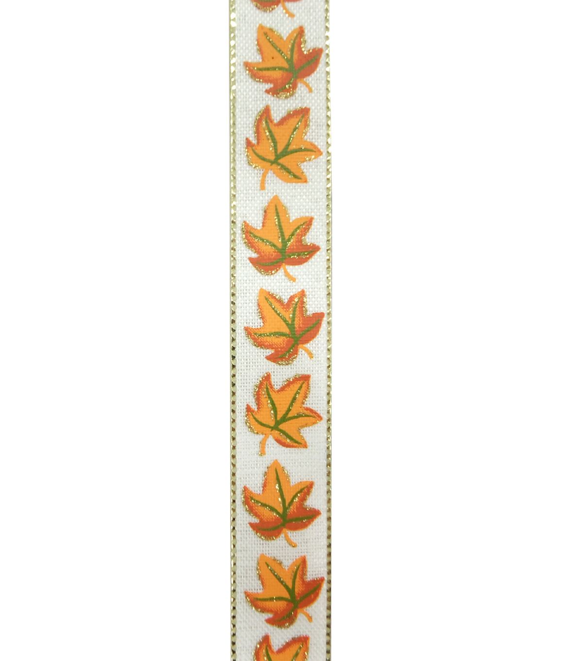 Fall Into Color Ribbon 7/8\u0027\u0027x9\u0027-Orange Maple on Ivory