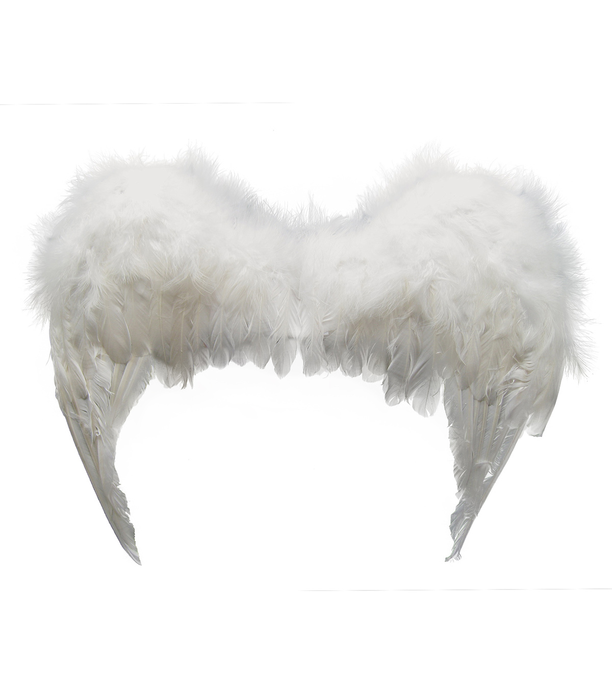 Maker\u0027s Halloween Deluxe Feather Angel Wings-White
