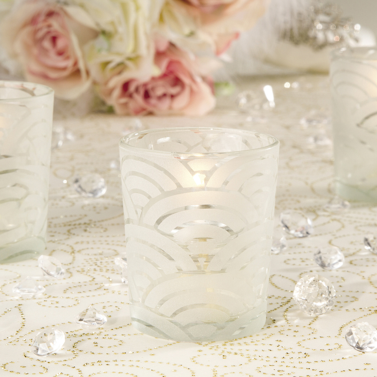 David Tutera™ Bridal Collection Frosted Art Deco Votive
