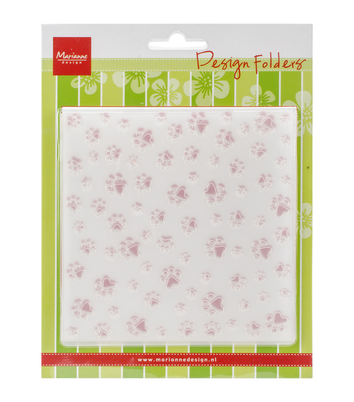 Marianne Design Embossing Folder-Paws Background