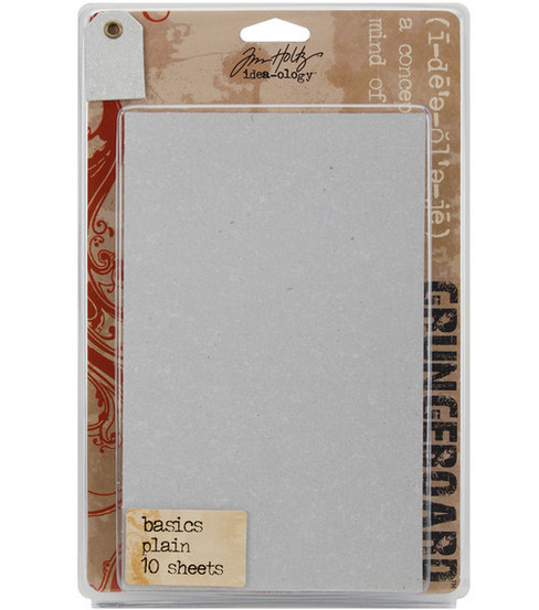 "Tim Holtz Idea-Ology Grungeboard Basics 5""X8"" Sheets 10/Pkg-"