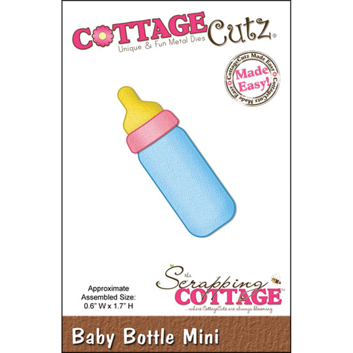 CottageCutz Made Easy Mini Die Baby Bottle