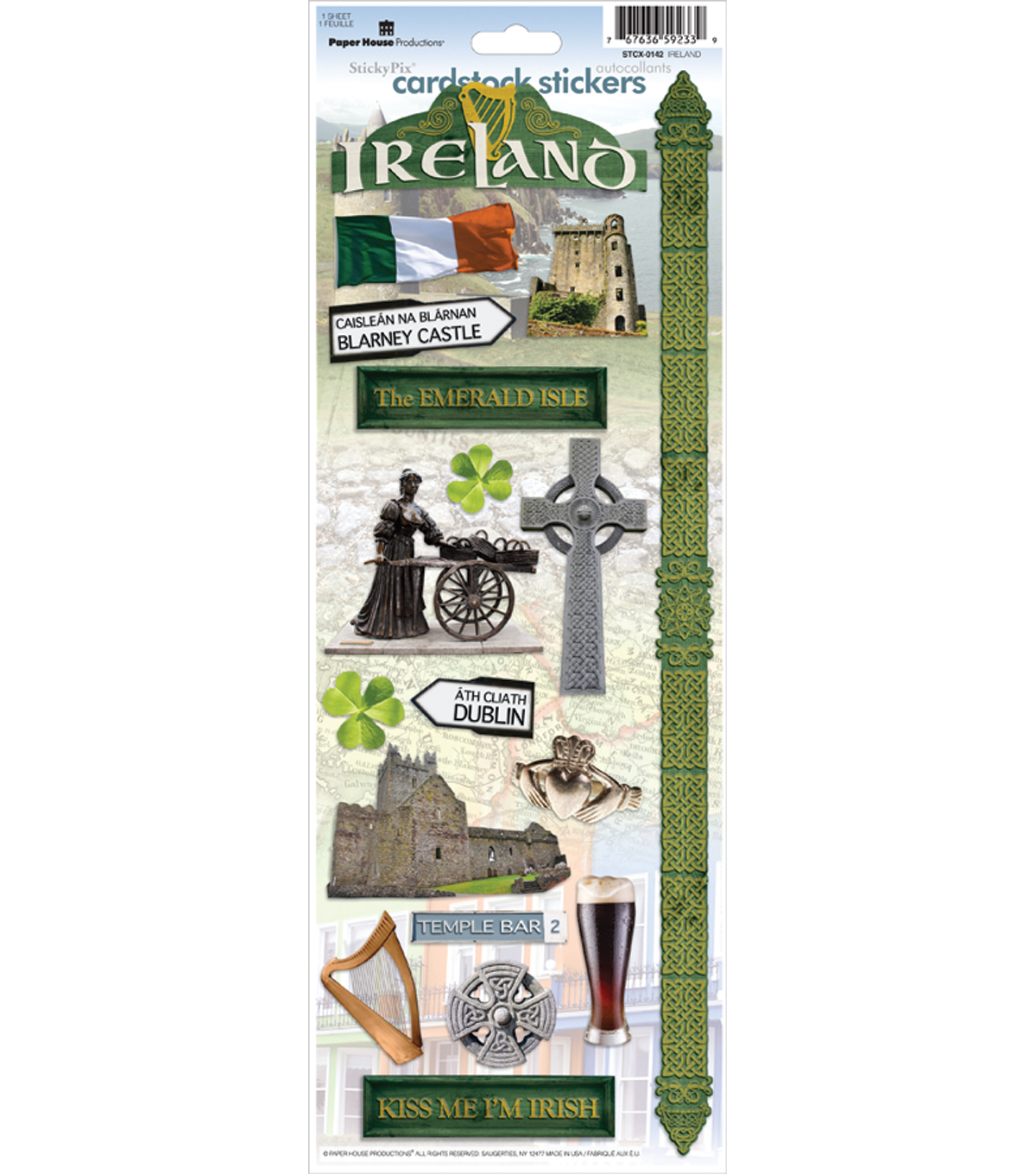 Ireland Cardstock Sticker