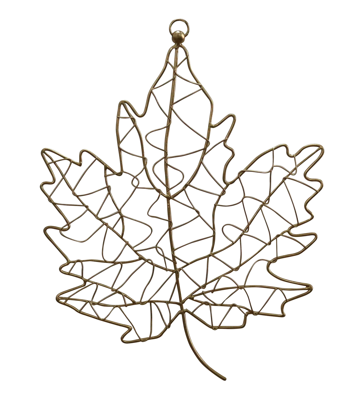 Fall Into Color Metal Maple Leaf Wall Decor