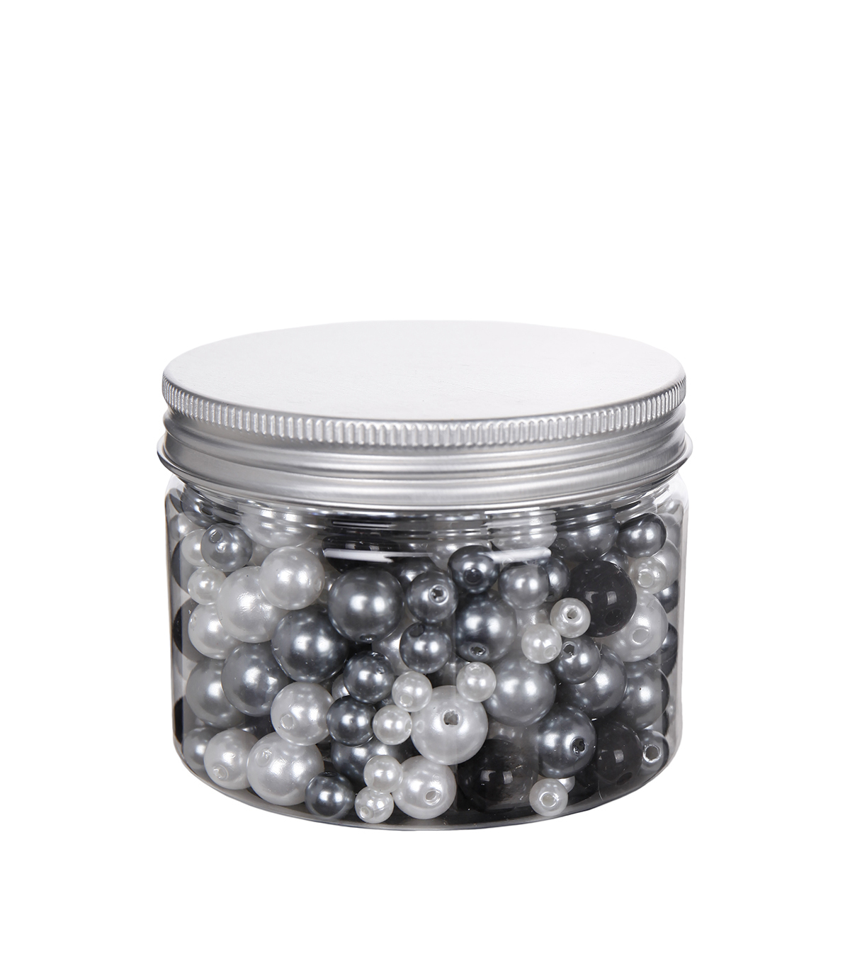 hildie & jo™ Assorted Fashion Beads in Plastic Jar-Black & White