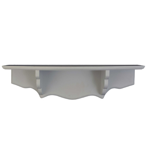 6.3\u0022 x 24\u0022 x 5.6\u0022 Shabby Chic Wood Shelf-Gray